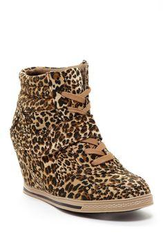 Bucco All Over Leopard Nicoleed Wedge Sneaker