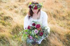 Lovers' Lane: A Rustic Wedding Styled Shoot in Yorkshire. Fabulous floral crown.  Image by Jenny Maden Photography.  Read more: http://bridesupnorth.com/2017/01/30/lovers-lane-a-rustic-wedding-styled-shoot-in-yorkshire/  #wedding