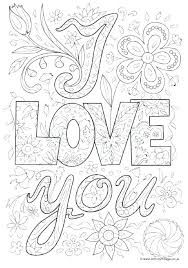 I Love You Doodle Colouring Page And Tons Of Great Coloring Pages