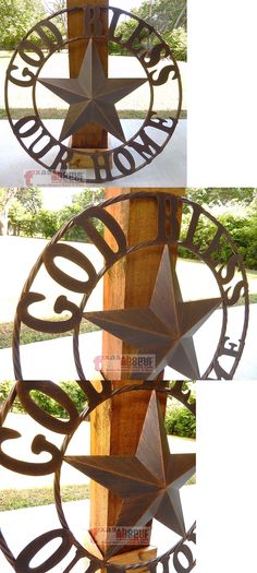Plaques and Signs 31587: 26 God Bless Our Home Metal Barn Star Brushed Copper Wall Plaque Rope Ring -> BUY IT NOW ONLY: $34.95 on eBay!