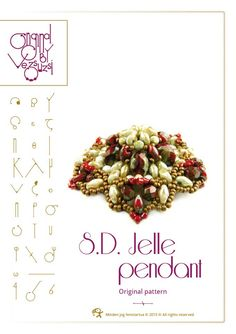 Pendant tutorial / pattern S.D. Jelle with superduo beads ..PDF instruction for personal use only. $12.00, via Etsy.
