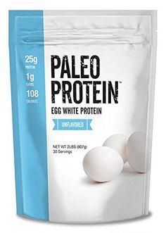 Paleo Protein Egg White Powder (2 LBS Total)(Soy Free)(30 Servings Total) (GMO Free)