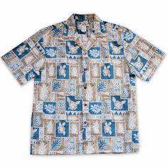 Castaway Tan Hawaiian Cotton Shirt  #madeinhawaii #hawaiian
