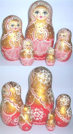russian nesting dolls... I collect dolls from around the world an I've always thought the Russian doll was so neat