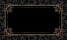 Black Gold Frame pattern background material, Patron De Negro, Marco De Oro, Poster, Imagen de fondo