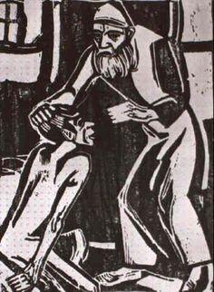 Christian Rohlfs (1849-1938) was een Duitse schilder van het expressionisme. Zijn werk in deze periode toont de overgang van de kunstenaar naar de uitbeelding van impressie naar een expressief streven. Hoewel de grens hier nog vaag is, zou hij spoedig, beïnvloed door Nolde, een keuze maken. Vanaf 1910 richt hij zich op het expressionisme en ontstond een reeks in levendige kleuren uitgevoerde stadsgezichten, boerenhoeven en composities met bijbelse figuren.