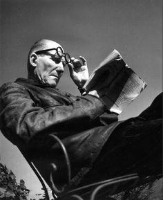Le Corbusier by Robert Doisneau (1945)