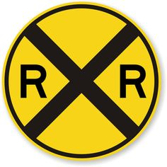 Railroad crossing sign is great decor item for any child's room decorated with a train theme, train room or garage. Every train enthusiast, hobbyist, or collector would love to have this yellow railroad crossing sign. Trains Birthday Party, Train Party, 3rd Birthday, Birthday Ideas, Chuggington Birthday, Birthday Parties, Garage Art, Garage Shop, Train Room