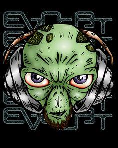 Estampa Alien Dj http://evocat.com.br/camiseta_aliendj