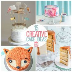 Beautiful cake designs that are perfect for baby's first birthday or a baby shower.