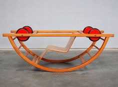 cool vintage toy -rocker to car i really need to work on my woodworking skills im sure you could McGuyver this from other products