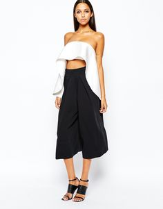 Image 4 ofSolace London Bandeau Top With Exaggerated Frill