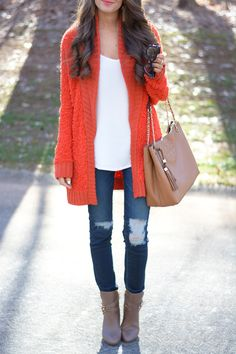 Fun, bright outfit for winter