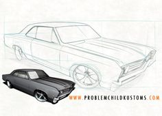 Creating some drawing tutorials... http://www.problemchildkustoms.com/learn-to-draw-hot-rods.html  New lessons soon!