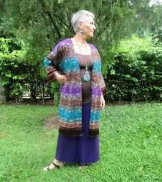 Naomi - Indonesian Batik Long Kimono Jacket
