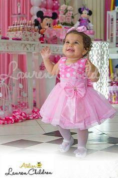 Vestido Minnie Rosa                                                                                                                                                                                 Mais