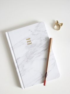 This and That Marble Notebook – Nouvelle Daily