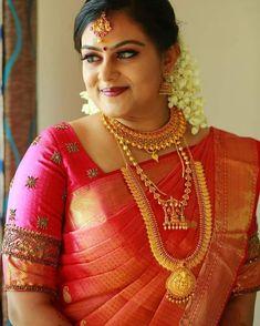 Best Blouse Designs, Silk Saree Blouse Designs, Blouse Neck Designs, South Indian Bride, Kerala Bride, Hindu Bride, Latest Pattu Sarees, Wedding Saree Collection, Desi Bride