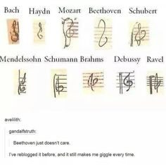 Beethoven just doesn't care
