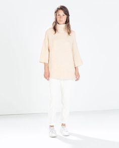 HIGH NECK SWEATER-Turtleneck-Knitwear-WOMAN   ZARA United States