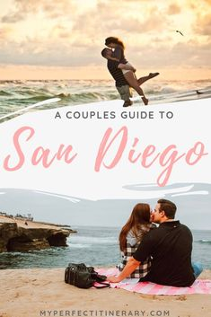 Looking for a romantic getaway to San Diego? This 4 Day San Diego itinerary includes the San Diego Zoo Sunset Cliffs Natural Park Best beach bars in Pacific Beach Best bars in the Gaslamp District seals at La Jolla and more! San Diego Vacation, San Diego Travel, San Diego Beach, San Diego Zoo, Pacific Beach San Diego, Beaches In San Diego, San Diego Day Trip, Moving To San Diego, Romantic Vacations