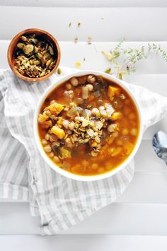 Squash and chickpea soup
