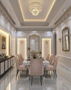 Top 12 Astonishing Luxury Dining Room Ideas That Wows House Ceiling Design, Ceiling Design Living Room, Dining Room Design, House Design, Roof Design, Wall Design, Luxury Dining Room, Elegant Dining Room, Dining Room Sets
