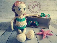 How to Crochet a Bear - Crochet Ideas Yarn Dolls, Knitted Dolls, Stuffed Toy, Hand Knitting, Crochet Hats, Teddy Bear, Toys, Handmade Gifts, Summer