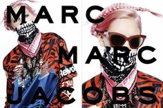 Braid pink hair + punk style prints | Marc by Marc Jacobs Fall Winter 2014 Ad Campaign.