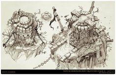 ArtStation - League of Legends, Summoners Rift update Architecture concept art, Trent Kaniuga - Aquatic Moon