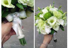 Baiciurina Olga's Design Room: Бело-зеленый букет невесты-White&Green wedding bouquet.