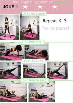 Programme fitness Challenge Jour 1