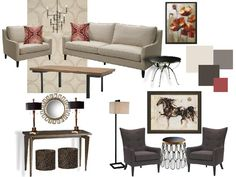 Modern Eclectic Living Room  www.ultimatedesignsdr.com