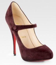 Christian Louboutin Decocolico Mary Jane Heels-Nice...