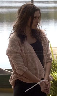 Haley's dolman sleeve cardigan on The Originals.  Outfit Details: http://m.wornontv.net/22509/