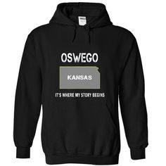 OSWEGO - Its where my story begins! - #gift for men #cool gift. TRY => https://www.sunfrog.com/No-Category/OSWEGO--It-Black-19877746-Hoodie.html?68278