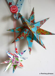 recycled paper stars 1