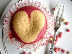 muffiny z sercem na walentynki