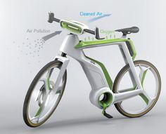 مهندسان تایلندی موفق به طراحی دوچرخه ای شده اند که هوای فیلتر شده و تصفیه شده را به سمت دوچرخه سوار هدایت می کند.