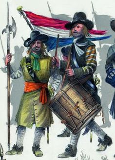 Wars of Louis Quatorze: A Couple of Interesting Dutch Marine Plates Dutch Empire, Historical European Martial Arts, Dutch Republic, Thirty Years' War, Navy Uniforms, Royal Marines, Modern Warfare, World War Two, 17th Century
