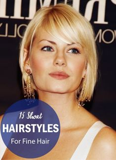 15 Short Hairstyles For Fine Hair   Best Short Fine Hair Cuts For Women. All these hairstyles are styled with perfection and amazing finish. You can wear these for any occasion going classic, romantic or vintage to get an amazing look. Click to find out t