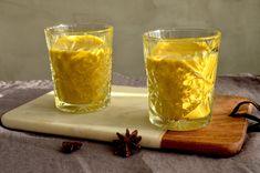 Kurkumamaito eli Golden Milk / Sweets by Sini Golden Milk, Pint Glass, Smoothies, Beer, Sweets, Mugs, Drinks, Tableware, Smoothie