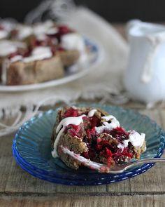 Gluten Free Cranberry Cherry Cinnamon Rolls