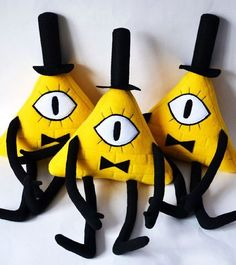 Gravity Falls Yellow Bill Cipher Plush Toy Handmade by G4skyRU