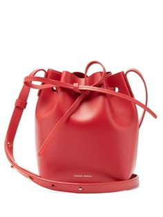 Mansur Gavriel Bucket Bag, Embossed Logo, Vegetable Tanned Leather, Friends In Love, Body, Color Pop, Mini Mini, Accessories, Designers