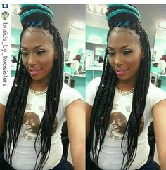 Hues of Blue box braids