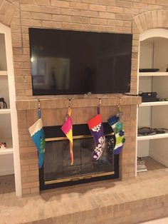 How To Mount A Tv Over A Brick Fireplace And Hide The Wires Tvs Brick Fireplaces And Fireplaces