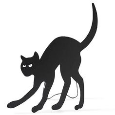 standing black cat silhouette - Black Cat Silhouette Halloween
