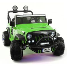 Kids Jeep, Toy Cars For Kids, Little Cars For Kids, Electric Truck, Pink Truck, Power Cars, Kids Ride On, Ride On Toys, Rubber Tires