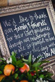 Thank you chalkboard idea for reception.